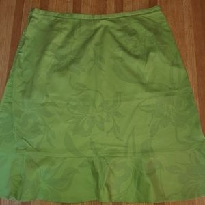 🌟🌟Beautiful Floral Green TresYou skirt size 12